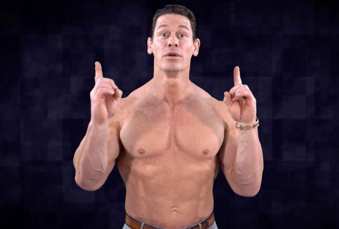 """John Cena in his PDA seen on HBO's """"Last Week Tonight with John Oliver."""""""
