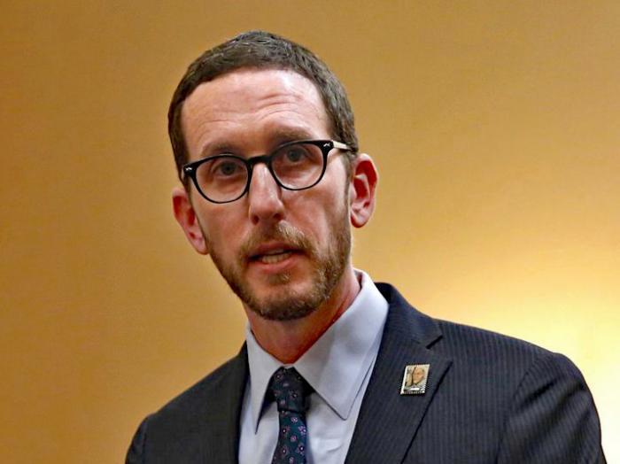 In this Jan. 21, 2020, file photo, state Sen. Scott Wiener, D-San Francisco, speaks at a news conference in Sacramento, Calif. On Wednesday, July 15, 2020, Sen. Wiener announced a bill that would make more people eligible for jury duty. Wiener said the bill will make juries more diverse