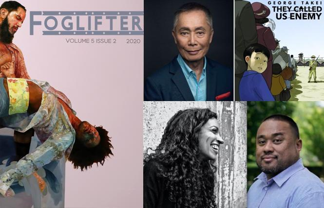 Foglifter Journal, George Takei's 'They Called Us Enemy,' SF poets Ashley Toliver and Jason Bayani